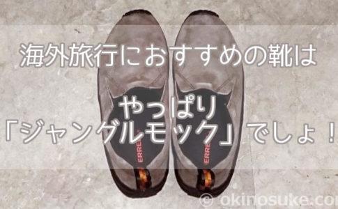 海外旅行におすすめの靴は、やっぱり「ジャングルモック」でしょ!