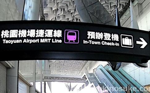 台北駅でインタウンチェックインしてみた